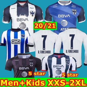 Top Thaïlande 2020 2021 Rayados Monterrey Soccer Jersey V.JansSen 9 L.Vangioni 20 21 Monterrey 75e anniversaire Maillot Camiseta de Futol