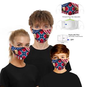 Mississippi Flag Mask America Halloween Clown Digital Printed Anti Dust Fog Adjustable Ear Hang Filter Face Masks OOA8282