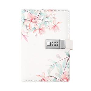 새로운 디자인 콤비네이션 자물쇠 일기 메모장 하드 커버 집행 노트북, 5.51x7.87 인치 (NO 펜) 줄 지어 TPN053 T200727