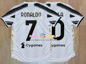 Top juve maillot de football 2020 21 saison Version Fit joueur juve ronaldo Accueil blanc de Ligt Dybala RAMSEY taille des chemises de football S-XXXL