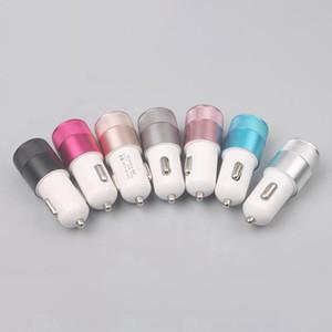 Dual USB Mobile Phone Car Charger 2.1A + 1.0A com IC carregamento rápido Adaptador Universal 12V