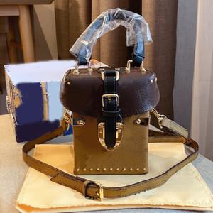 الهاتف المحمول صندوق سيدة حقائب الكتف مشبك الأزياء حقيبة كاملة L رسالة غلق بمشبك نهر الديكور براون عملة المحفظة عالية الجودة شحن مجاني
