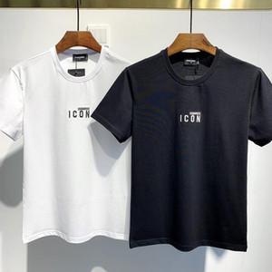 Dsquared2 DSQ D2 Dsquared 20SS Italie Disco Punk Streetwear Hommes T-shirts Lettre ICON Imprimer Tops Shorts Haute Qualité Hommes Femmes Hip Hop Harajuku T-shirt Tee YY722