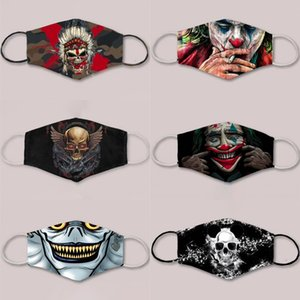 Máscaras 3D Impresso Esqueleto Máscara Facial Moda Designer Joker Careta Festa de Natal Halloween Film celebridade Masquerade Máscaras presente Carnival