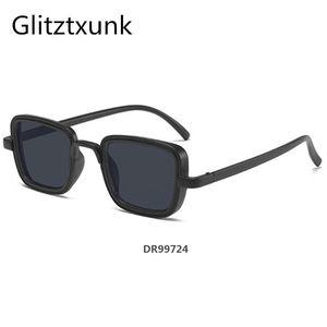Glitztxunk Retro Square Sunglasses Men Women Luxury Fashion Brand Designer Sun Glasses For Men Driving 100% UV400DR99724