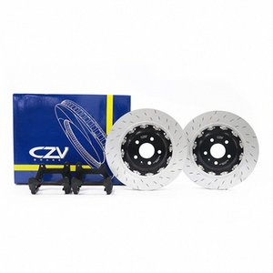 Spark Pattern Slotted Car Vehicle Motor Auto Modification Rear Big Brake Rotor Discs Kit for A7 1dfc#