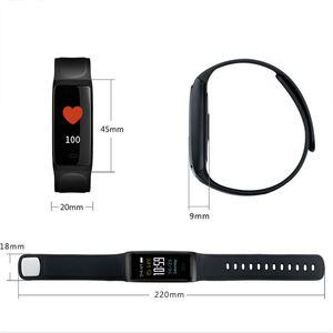 C7S intelligent bracelet Fitness Tracker sang Taux pression cardiaque Smart Monitor montre écran étanche pour iPhone iOS Wristwatch Android