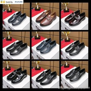 A9WK Top Loafers Party Wedding Shoes Black Patent Leather Suede With Tassels Spikes Studded Dress Shoes For Mens