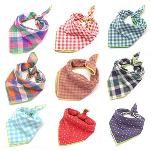 12pcs set Cotton Baby Bibs Burp Cloths Infant Saliva Cloth Bandana Square Bibs For Newborn Pet Dog Cat