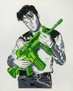 Mr Brainwash art Graffiti Elvis Presley Accueil Décor Artisanats / HD huile d'impression Peinture Sur Toile Art mur toile Photos 4011