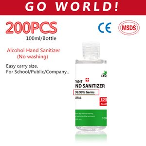 200 Bottles lots 100ML hand sanitizer gel alcohol hand sanitizer wholesaler Disinfecting hand sanitizer alcohol disinfectant