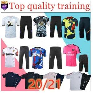 neue 20/21 Paris 4/3 Fußball Kurzarm Trainingsanzug Real Madrid 4/3 Hosen Sportswear 20/21 Frankreich 2 Sterne Mbappe 4/3 Kurzarm traini