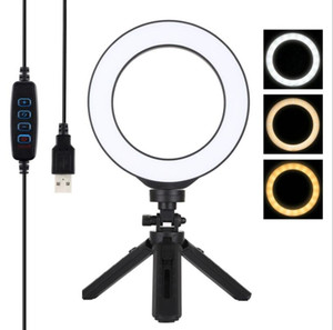 6 inch Mini Tripod Stand K315 ring lamp Dimmable mobile light selfie light with tripod professional ring light in broadcast