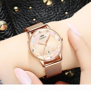 Luxury Crystal Ladies Dress Watches Brand Designer Watch Women Rose Gold Quartz Wrist Watch Female Mesh Steel Waterproof Clock