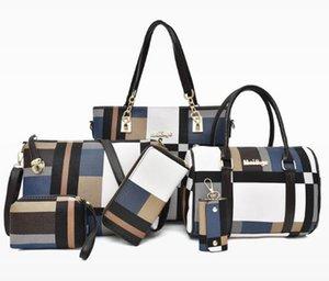 Designer Women's Bag 2020 New Fashion PU Oblique Cross-body Bags Large Capacity Six-piece Shoulder Bag Drop Shipping