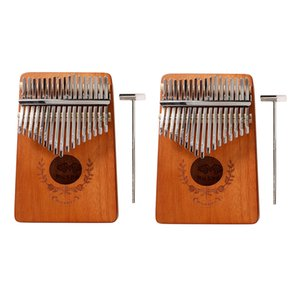 Conjunto de 2 17-Key Kalimba Pulgar Piano de madera dedo Mbira del instrumento de música