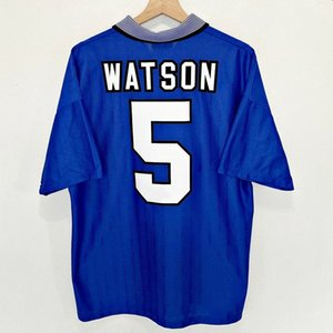 Retro Everton 1995 FA Cup Final Soccer Jerseys Amokachi Rideout Ferguson Stuart Vintage Football Kit Classic Shirt