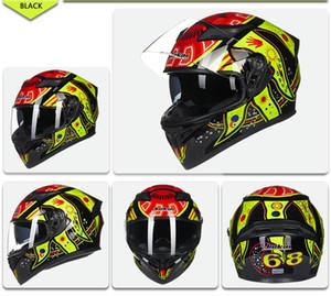 Melhor DOT Vendas Aprovado Segurança Capacetes completa Rosto Dual Lens Corrida Capacete forte resistência Off Road Helmet JIEKAI