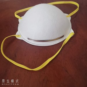 star américaine la conception même tasse blanche à usage unique à l'intérieur perméable à l'air confortable et à l'extérieur du masque poussière de pont de nez mail gratuit