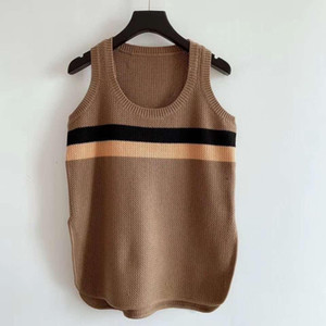 2020 Marke Same Stil Pullover ReqularSleeveless Rundhalsausschnitt Druck Kint Frauen Pullover Berühmtenart Sweater
