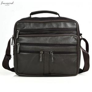 New Arrival Men Shoulder Bag Mens Genuine Leather Messenger Bag Plain Boy Coffee Middle Size Handbags Tote Natural Skin Men Briefcase