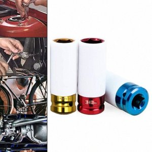 1pc Protection Sleeve Tire coloré manches mur Deep Impact Nut Socket roue 17mm / 19mm / 21mm 9Zia #