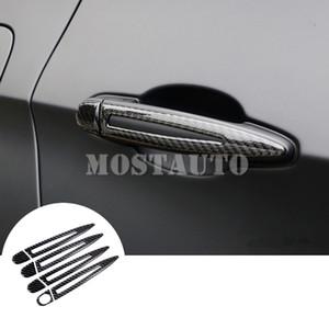 For BMW 3 Series E90 E92 E93 Carbon Fiber Car Door Handle Trim Cover 2008-2012 8pcs