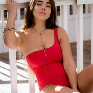 Mayo Mayo Kadınlar Seksi bodysuit Omuz Backless Retro Çizgili Siyah Beyaz Kırmızı Mavi Swimwea 2020 Plaj Partisi Güneşlenme