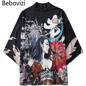 ondo Abbigliamento Asia Pacific Islands Abbigliamento Bebovizi 2020 stile giapponese Kimono casual Streetwear Uomo Donna Moda Cardigan Japan H ...