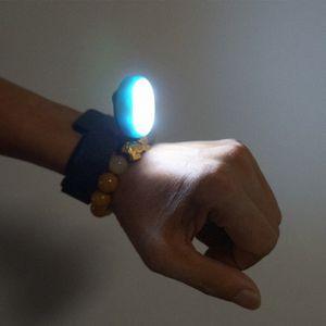 Llevó reloj de luz USB portátil de carga de bicicletas Noche impermeable muñeca Running Light 7lDg #