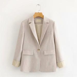 65MR-200308 Корейский женской одежды 65mr-200308 корейских женщин костюм 2020 весной новый контраст цвета британский стиль тонкий маленький костюм