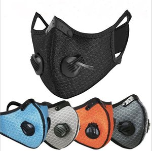 Sport Face Mask PM2.5 Cycling Mask Anti-Dust Anti-Pollution Activated Carbon Filter Effect >95% MTB Bike Cycling Face