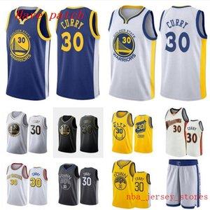 Hombres y mujeres de baloncesto de oroEstadoguerreros30 StephenCurry amarillo blanco compañero de ala negro sin mangas Jersey y pantalón