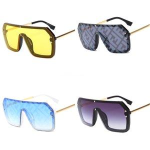 For Men Popular Designer Double F Sunglasses Rimless Frame Yellow Lens Gold Metal Acetate Legs Sun Glasses Summer Style Women Eyeglasses#820