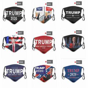 Trump Face Mask Make America Great снова Letter Printed против пыли моющийся Рот Обложка Маски OOA8230
