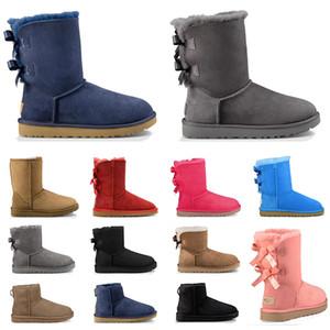 2020 boots designer mulheres clássicas botas de neve tornozelo curto arco bota de pele para o inverno preto cinza castanha vermelho moda feminina sapatos tamanho