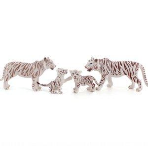 ción Ciencia Científico Simula modelo sólido zoológico tigre varón blanco cachorros de tigre hembra de un conocimiento científico y educativo