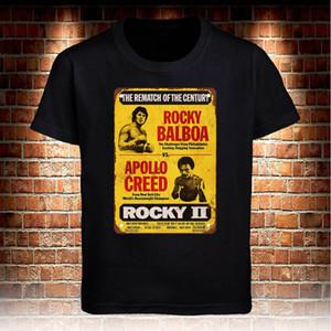 T-shirt noir Rocky Balboa vs Apollo Film Vintage Hommes Femmes Gris T-shirt Taille S à 5XL Rafraîchissez fierté t-shirt Casual Mode Unisexe