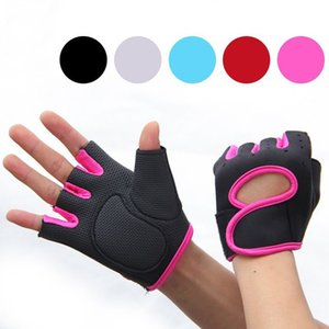 1 Pair Half Finger Gloves Fitness Gym Riding Training Cycling Wrist Gloves Anti-slip Breathable Exercise Weightlifting