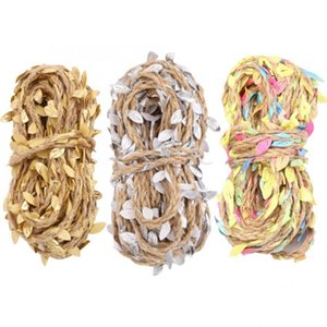 Пряжа MACRAME SHOD 10M Искусственная листья веревочка Vine Гирлянды ткачество DIY Home Craft Wedding Party Decor