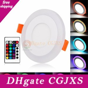 Acrilico dimmerabile a due colori bianco Rgb Embeded Led Light Panel 6W 9W 18w 24w incasso luci Illuminazione dell'interno con telecomando