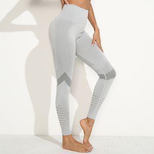 High Waist Fitness Gym Leggings Women Seamless Energy Tights Workout Running Activewear Yoga Pants Hollow Sport Trainning Wear