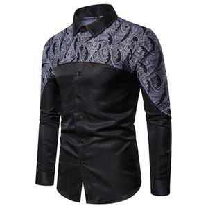 Autumn Best-selling New Style Designer High Quality Mens Shirt Fashion Slim Men's Fashion Wild Stitching Lapel Shirt Fashion Brand