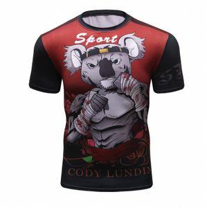 2019 Nueva BJJ Rashguard T de los hombres de la camisa de compresión MMA aptitud del músculo lucha TOP Muay Thai camisetas Jiu Jitsu apretado Fightwear MX200611