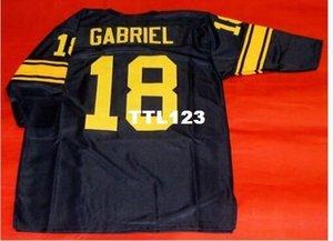 Men # 18 ROMAN GABRIEL tamanho personalizado 3/4 de faculdade Jersey s-4XL ou personalizado qualquer nome ou número de camisa