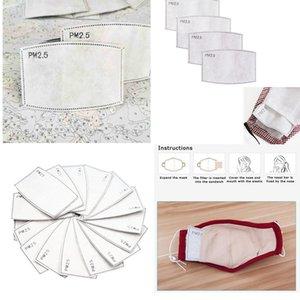 0.5 Filtro de papel Pm2 anti Haze Boca Máscara anti máscara de polvo Filtro de carbón activado máscara facial de algodón de papel con filtro de 50pcs Lote