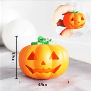 Нового Halloween Pumpkin брелка Подарки Светящийся Charm творческого подарок кулон автомобиль брелка Нежные и красивые модные аксессуары LJA179