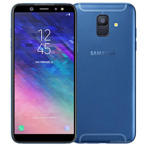 Recuperado Original Samsung Galaxy A6 2018 5,6 polegadas Octa Núcleo 3GB RAM 32GB ROM 16MP Câmera Desbloqueado 4G LTE inteligente móvel Android 10pcs telefone