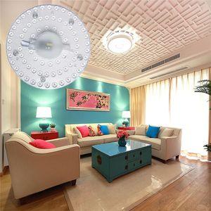 자기 LED 모듈 소스 천장 램프 실내 천장 조명 LED 라운드 링 튜브 패널 보드 12W 18W 24W 36W LED 패널 라이트를 교체