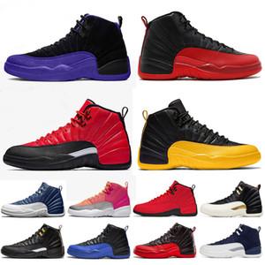 Air Jordan Retro 12 Top vente Nouveau 12s Chaussures de basket Femmes Hot punch Flu Jeu Jade Designer Jeu Royal Black Baskets Sneakers Chaussures Taille 36-47